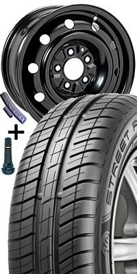 Plech disk 8667 - 6,5J x 16 5/112 ET46 57 s pneumatikou Dunlop 205/55 R 16 BLURESPONSE 91H