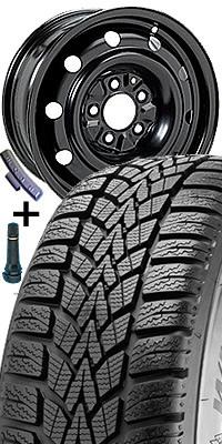 Plech. disk 7755 - 6J x 15 5/112 ET43 57 s pneumatikou Dunlop 195/65 R 15 W RESPONSE2 91T